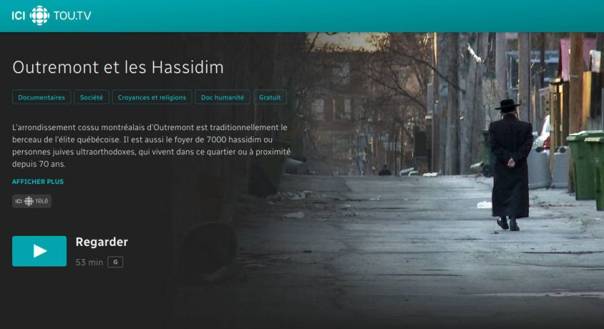 Outremont et les Hassidim (Tou.TV)